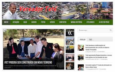 Teté fala sobre o lançamento do Site